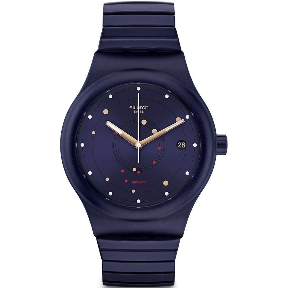 Swatch Sutn403a Sistem mer Flex bleu marine en acier inoxydable mon...
