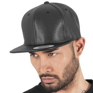 Flexfit Simili-cuir Flexfit casquette Snapback - noir
