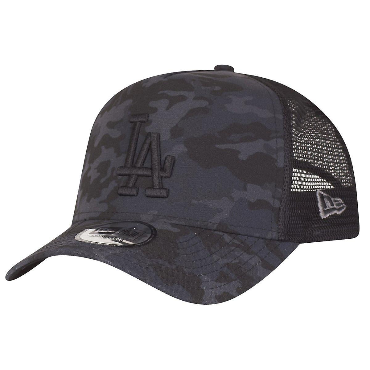 New Era Camo réglable new era Trucker Cap - LA Dodgers noir Charbon de bois One Size