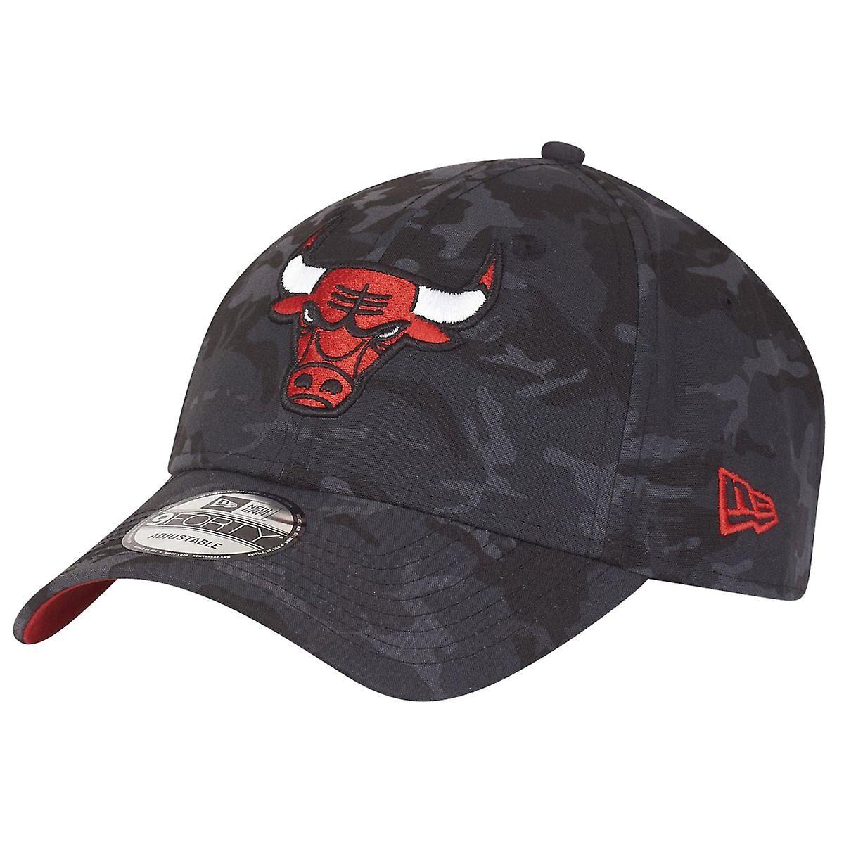 New Era Nouvelle ère 9Forty casquette ajustable - camo noir Chicago Bulls Charbon de bois