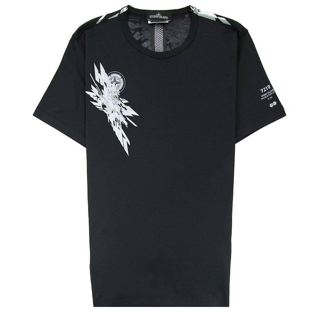 Stone Island Shadow Project Mako Logo Tshirt Noir S