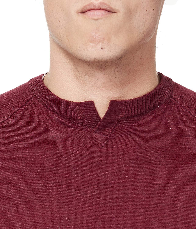 Good Man Brand Men-apos;s Extrafine Merino MVP V-Notch Sweater, Vin, XL Rose X-Large US /