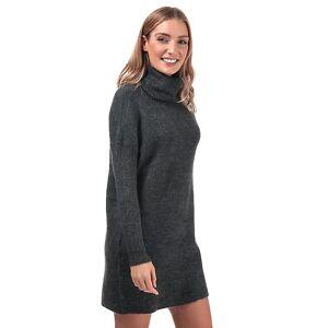Only Women's Only Jana Cowl Neck Jumper Dress in Grey Charbon de bois 6-8 - Publicité