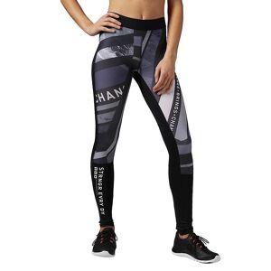 Reebok One Series Tight AX8682 en cours d'exécution toute l'année pantalons pour femmes blanc/noir/gris S - Publicité