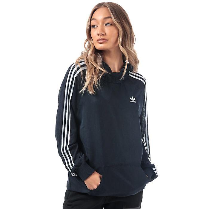Adidas Femmes's adidas Originals 3-Stripes Long Hoody en Bleu Marine 8