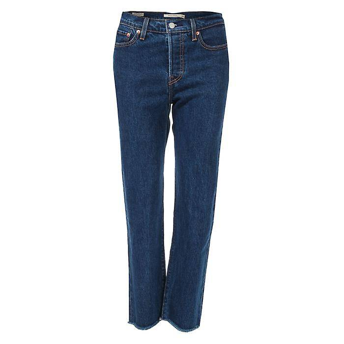 Levis Women's Levis Wedgie Straight Below The Belt Jeans in Blue Denim 26XXS