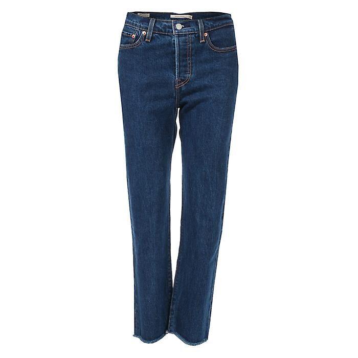 Levis Women's Levis Wedgie Straight Below The Belt Jeans in Blue Denim 30XXS