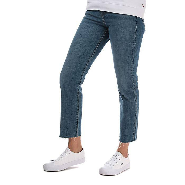 Levis Women's Levis Wedgie Straight Love Triangle Jeans en bleu Denim 30XXS
