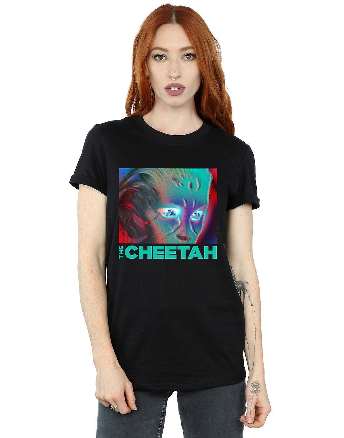 Absolute Cult DC Comics Femmes-apos;s Wonder Woman 84 Cheetah Face Boyfriend Fit T-Shirt Blanc XX-Large