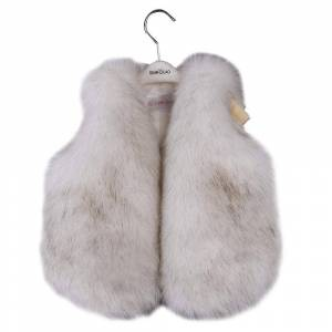 benetia Filles Waistcoat Faux Fur Vest White Size 5 Blanc 6-7 Years US / - Publicité