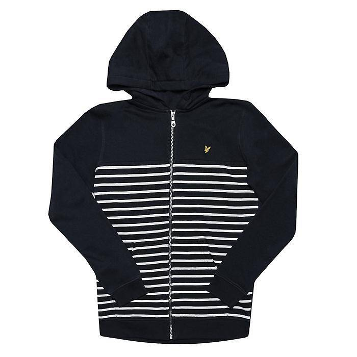 Lyle & Scott Boy-apos;s Lyle Et Scott Junior Breton Block Hoody en bleu Marine 14-15