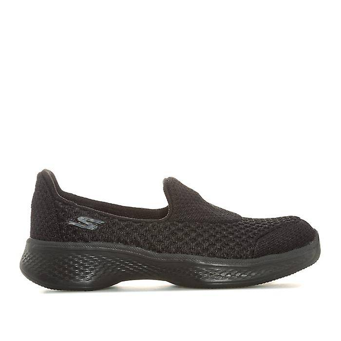 Skechers Girl-apos;s Skechers Enfants Go Walk 4 Kindle Slip On Trainers en Noir 12 child