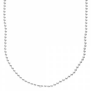 .iced-out. Chaîne de boule de bling argent 925 sterling - bille 2 mm Silver 60cm