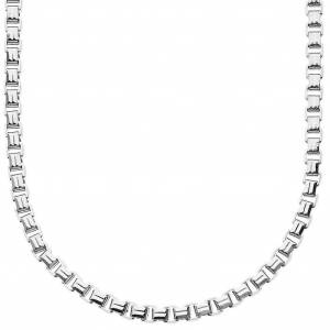 .iced-out. Iced out collier boîte carrée bling - 4mm - 90cm Silver