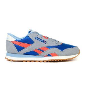 Reebok CL Nylon Ripple MU EF3281 universel toute l'année chaussures pour hommes orange/bleu/gris 6.5 UK / 7.5 US / 40 EUR / 25.5 cm