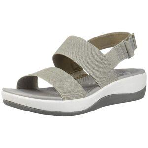 Clarks Womens Arla Jacory tissu Open Toe occasionnels Slingback Sandals Tan 5 US / 3 UK