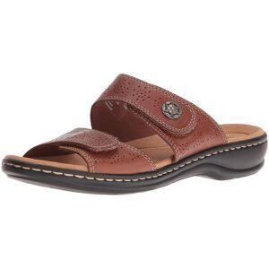 CLARKS Womens leisa lacole Open Toe occasionnels Slide Sandals Tan 9.5 US / 7.5 UK