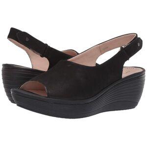 Clarks Womens Reedly Shaina Tissu Peep Toe Casual Slingback Sandales Noir 11 US / 9 UK