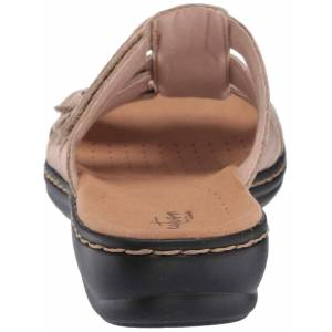 Clarks Womens Leisa Spring Leather Open Toe Casual Sport Sandales Or 10 US / 8 UK
