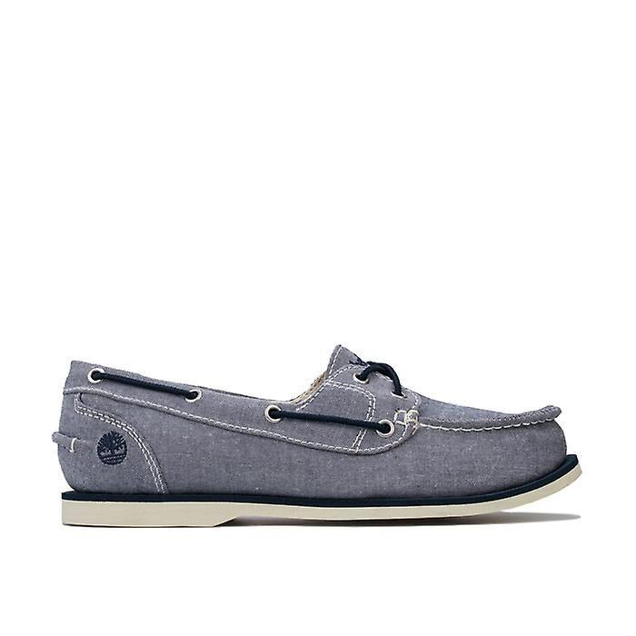 Timberland Chaussures de bateau en toile timberland classic en bleu Marine UK 5