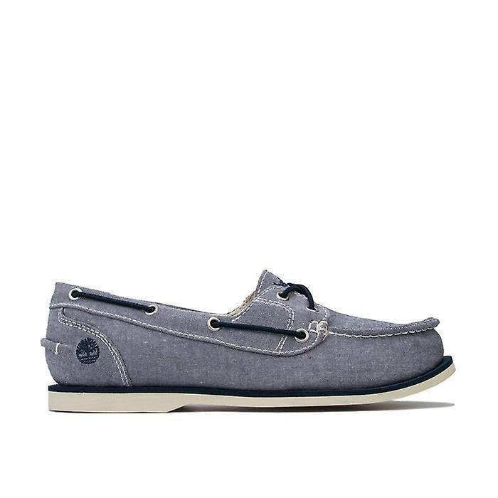 Timberland Chaussures de bateau en toile timberland classic en bleu Marine UK 4
