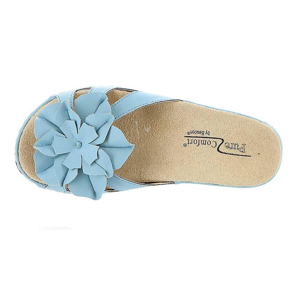 Beacon Sandals Beacon Womens Cupcake Open Toe Casual Slide Sandals Noir 7 US / 5 UK