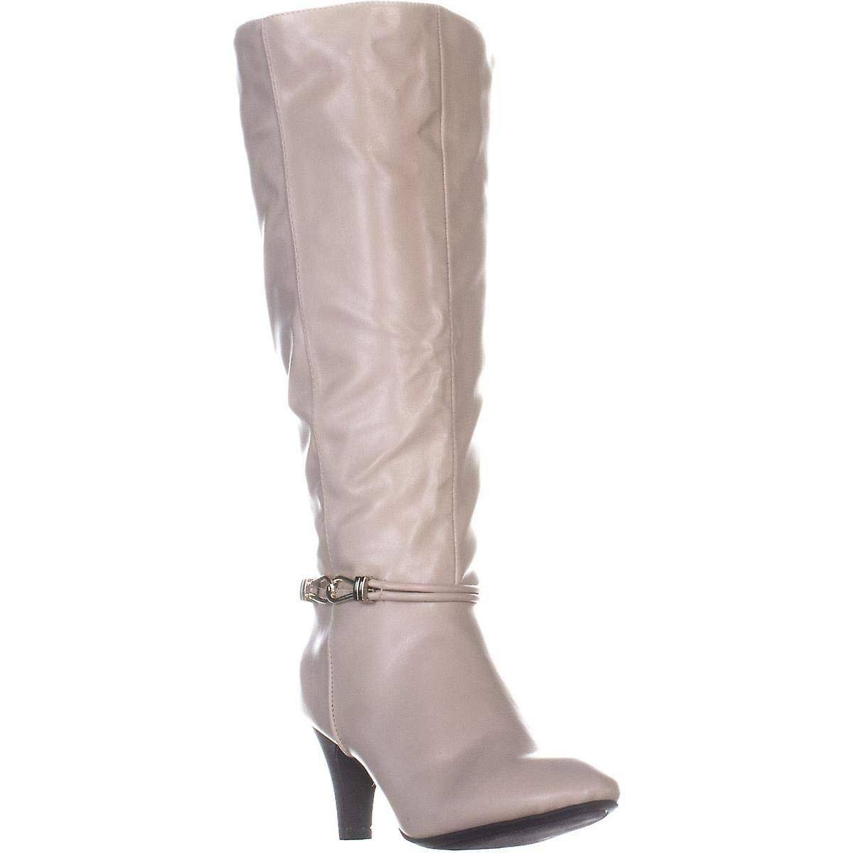 Karen Scott Femmes HOLLEE Cuir Fermé Toe Knee High Fashion Boots Blanc 8 US / 6 UK