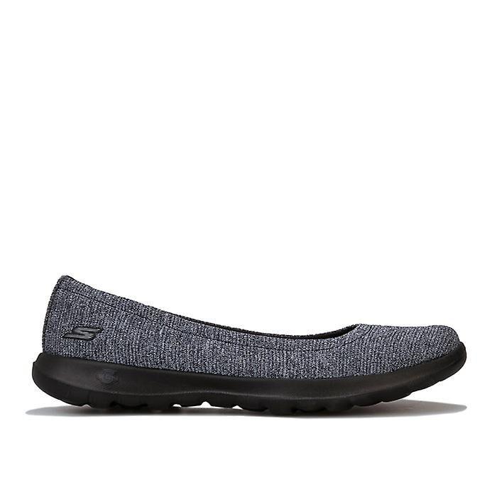 Skechers Femmes-apos;s Skechers Go Walk Lite Enamoured Ballet Shoes en noir Noir gris UK 3