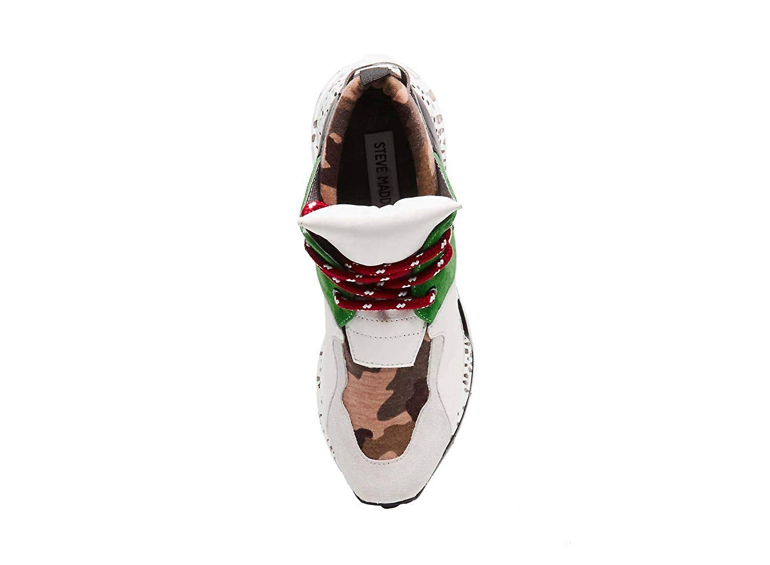 Steve Madden Femmes CLIF02S1 Cuir Bas Top Lace Up Baskets de mode MultiColor 5 US / 3 UK