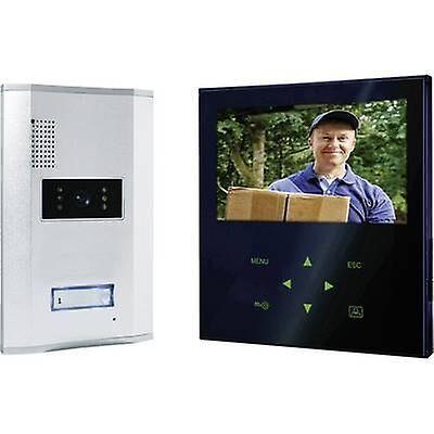 smartwares interphone de porte vidéo de sw smartwares vd71z à cordon complete kit détaché en aluminium, noir
