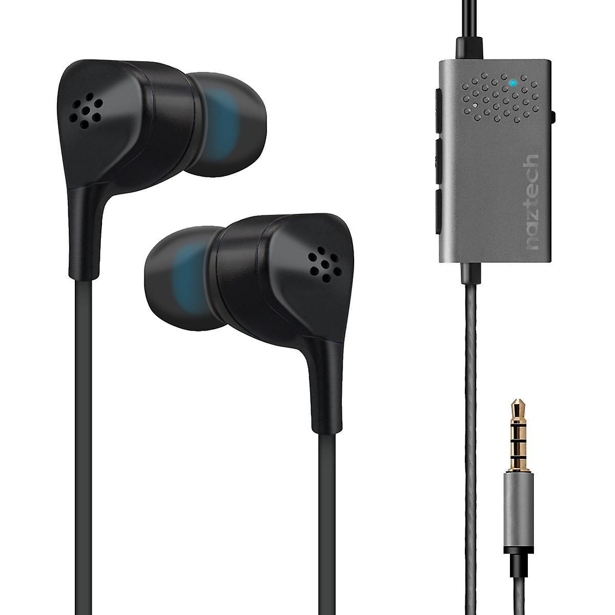 Naztech X 1 3,5 mm anti-bruit actif écouteurs avec Microphone - noir