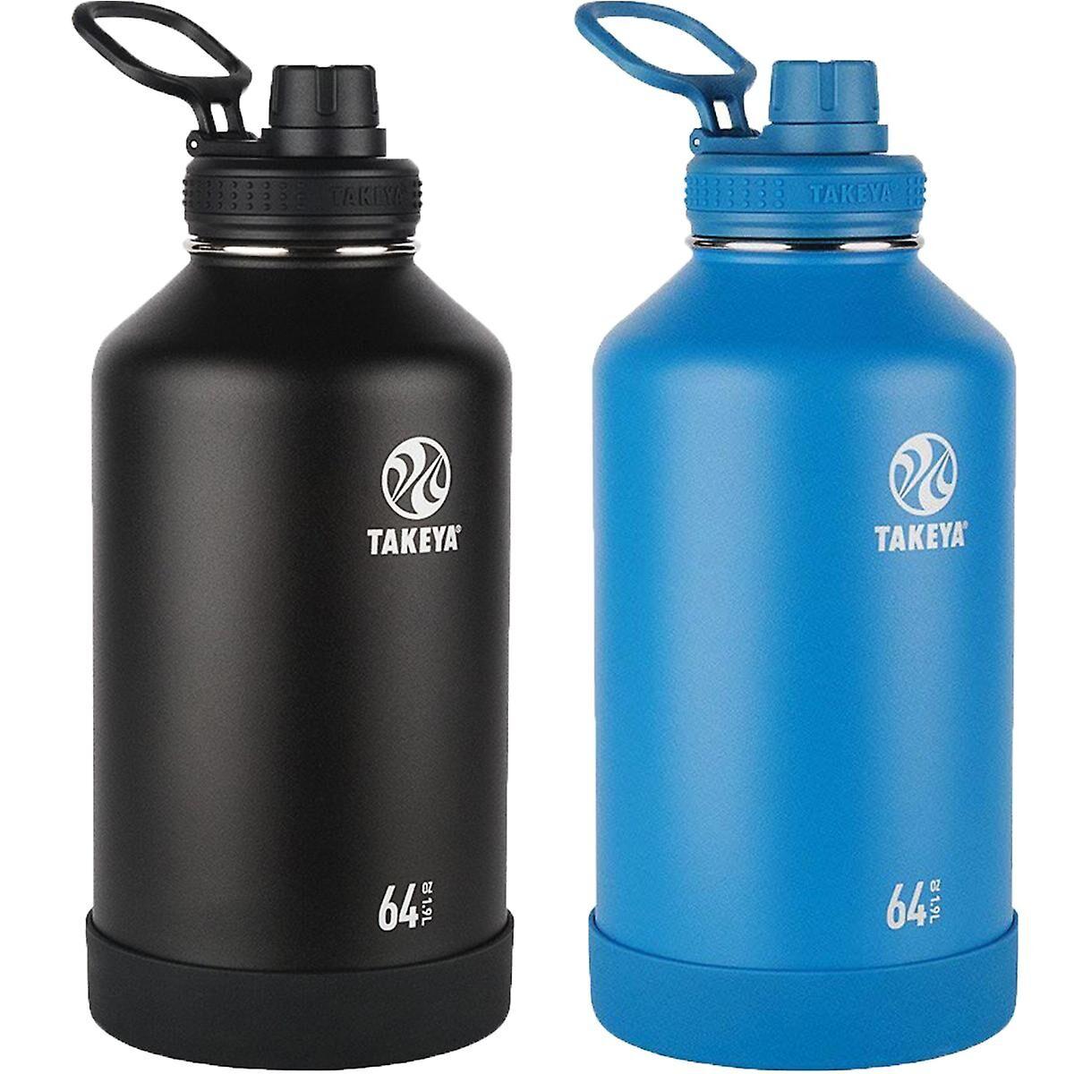 Takeya Bouteille d'eau en acier inoxydable isotherme 64 oz Takeya Actives
