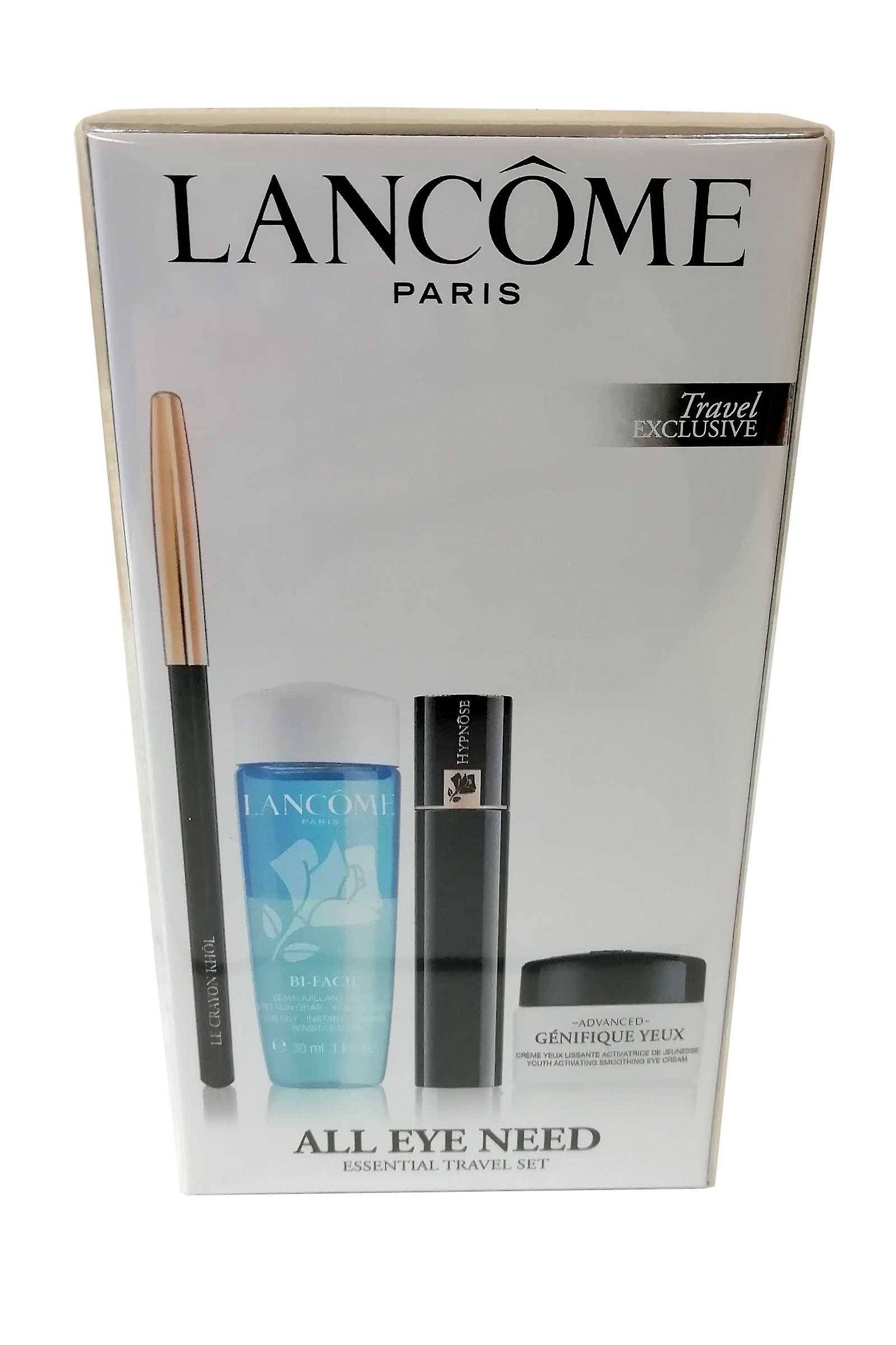 Lancome All Eye Need Set-Hynose Mascara Black Bi Facil, Crayon Khol, Genifique