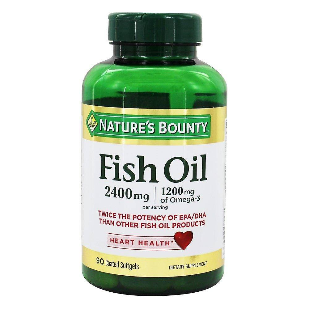 Natures Bounty Nature-apos;s bounty fish oil, 2400 mg, complément alimentaire softgels, 90 ea