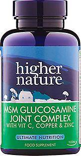 Higher Nature Plus Nature MSM Glucosamine mixte complexe, onglets 240 veg
