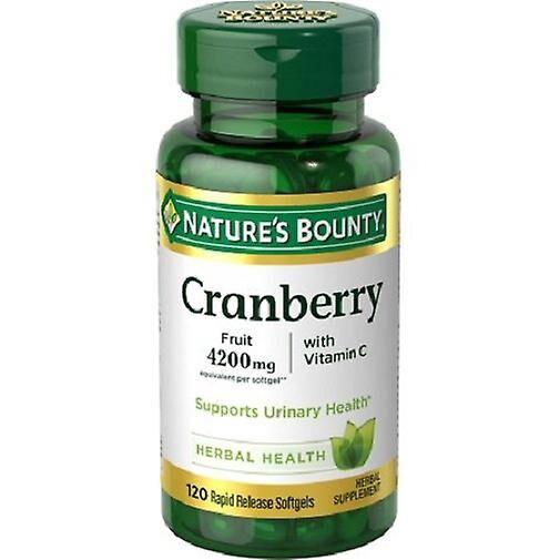 Natures Bounty De la nature Bounty canneberge Plus vitamine C 4200mg 120 gélules bouteille