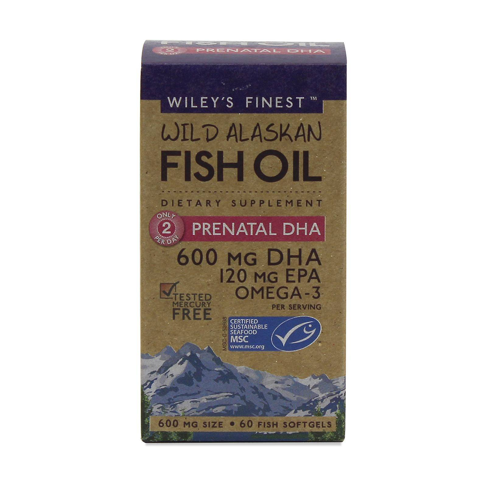 Wiley's Finest UK Wiley est plus beaux UK, prénatal DHA 60 capsules