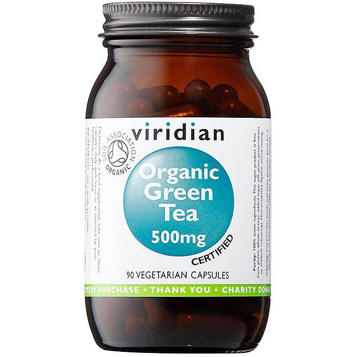 Viridian Green Tea Leaf 500mg (organique), 90 Veg Caps