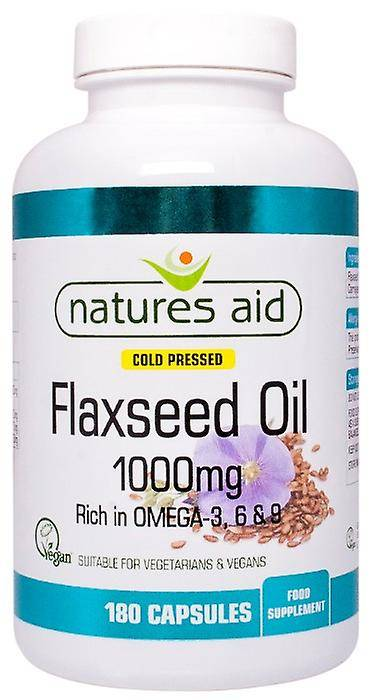 Natures Aid huile de lin 1000mg Cold Pressed (oméga 3, 6 + 9), 180 ...