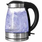 Charles Bentley 1.7 Litre LED Illuminated Glass Electric Kettle 360...