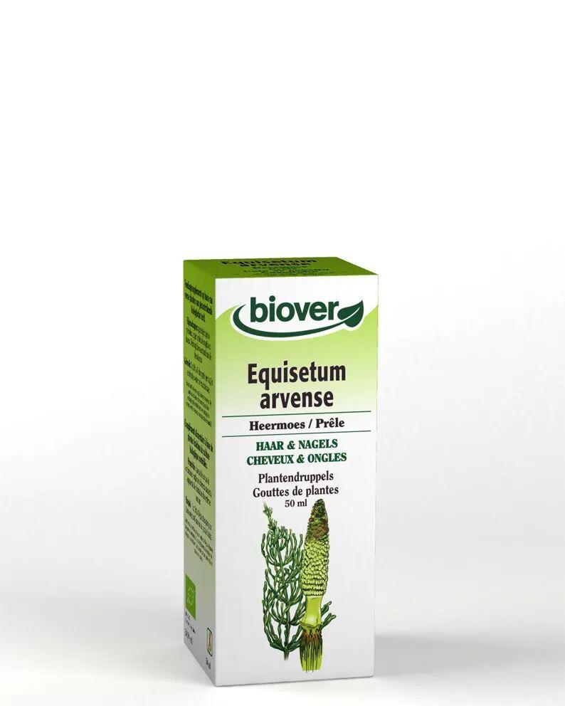 Biover Prêle Bio - Reminéralisant Teinture-mère Equisetum arvense 50 ml - Biover