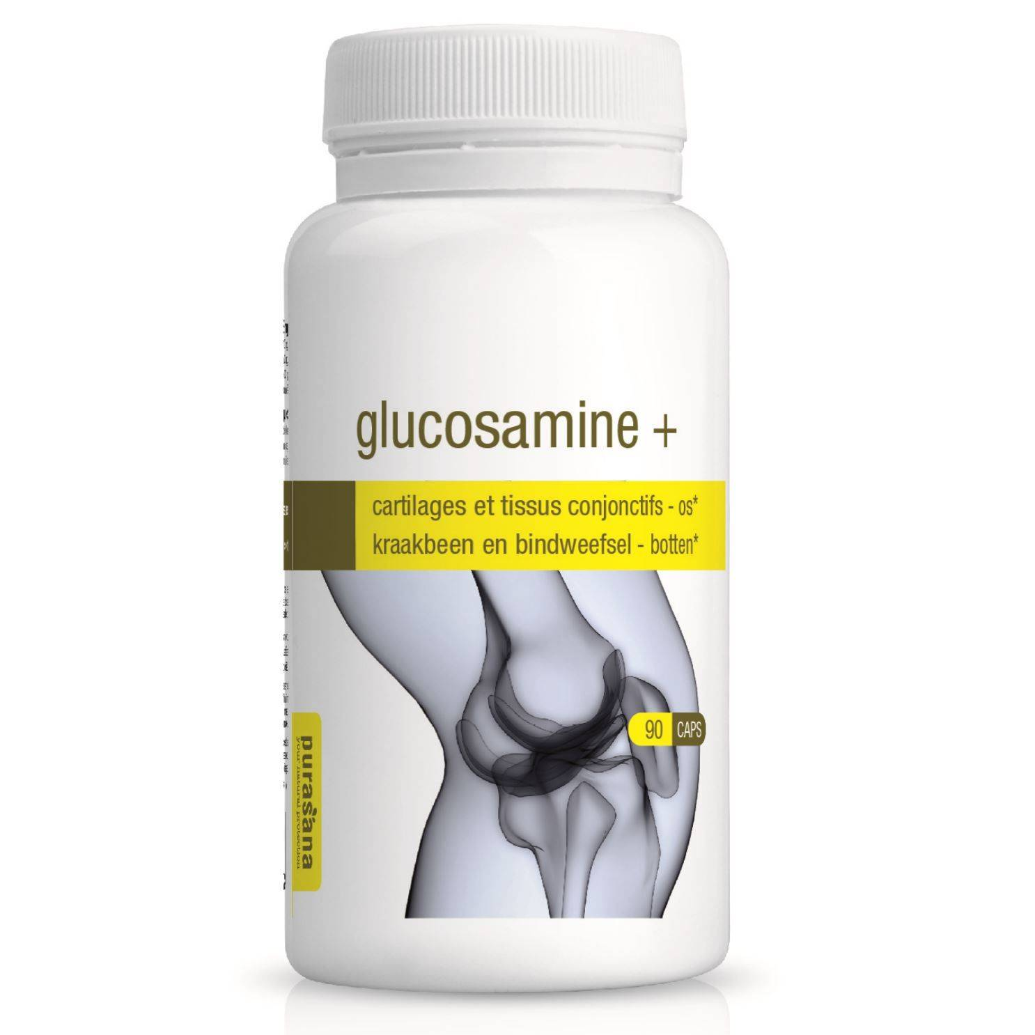 Purasana Glucosamine - Cartilages et tissus conjonctifs 90 gélules - Purasana