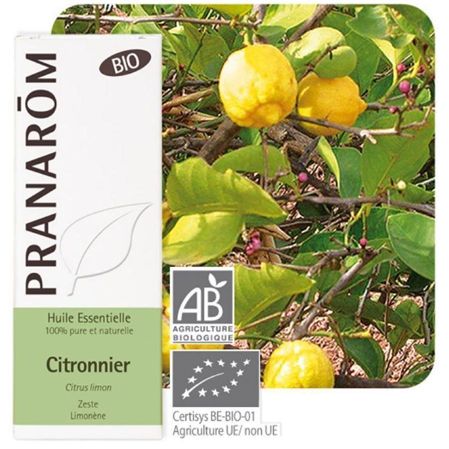 Pranarôm Citron Bio - Huile essentielle de Citrus limon 10 ml - Pranarôm