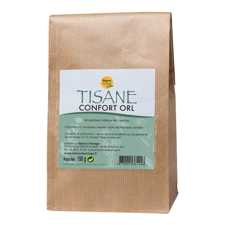 Nature et Partage Tisane Confort ORL - Tisane 150 grammes - Nature et Partage