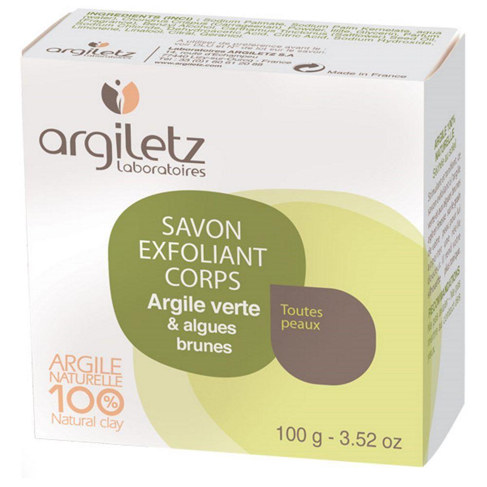 Argiletz Savon exfoliant corps - Argile verte, algues brunes, 100g - Argiletz
