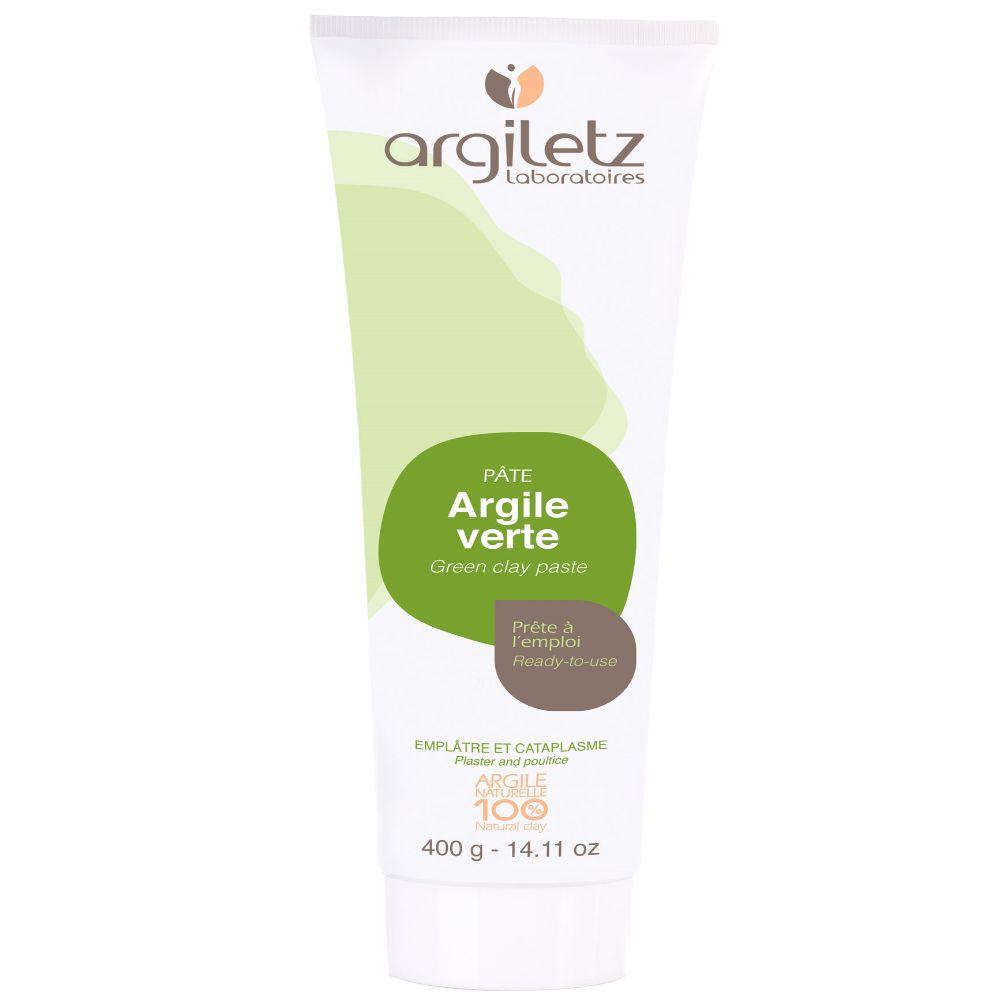 Argiletz Tube de pâte d'argile verte prête à l'emploi - Peau & Articulations 400g - Argiletz