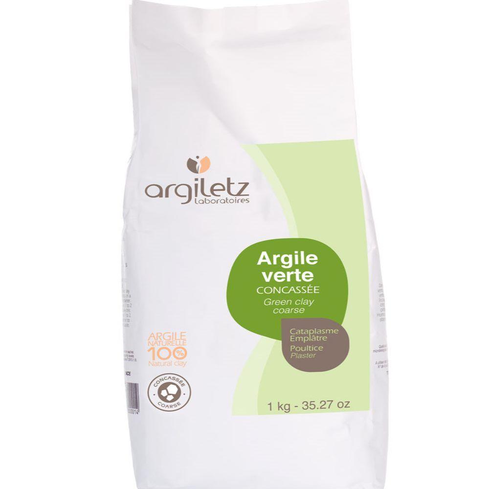 Argiletz Argile verte concassée - Cataplasme et beauté 1 kg - Argiletz