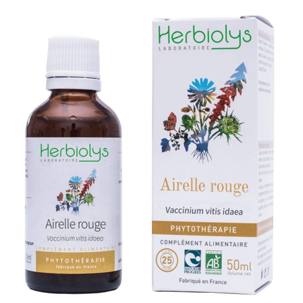 Herbiolys Airelle rouge - Ménopause & Ostéoporose Teinture-mère Vaccinium vitis idaea 50 ml - Herbiolys