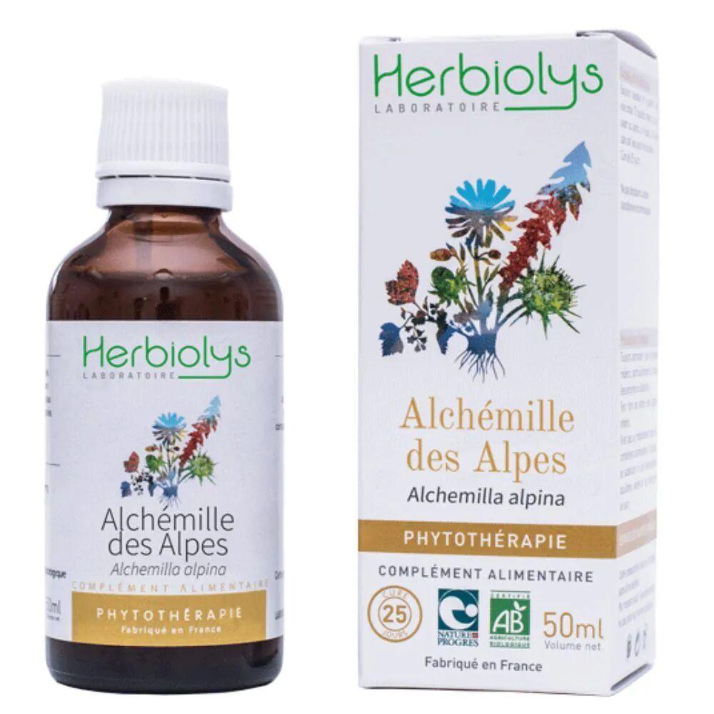 Herbiolys Alchémille des Alpes - Diarrhées Teinture-mère Alchemilla alpina 50 ml - Herbiolys