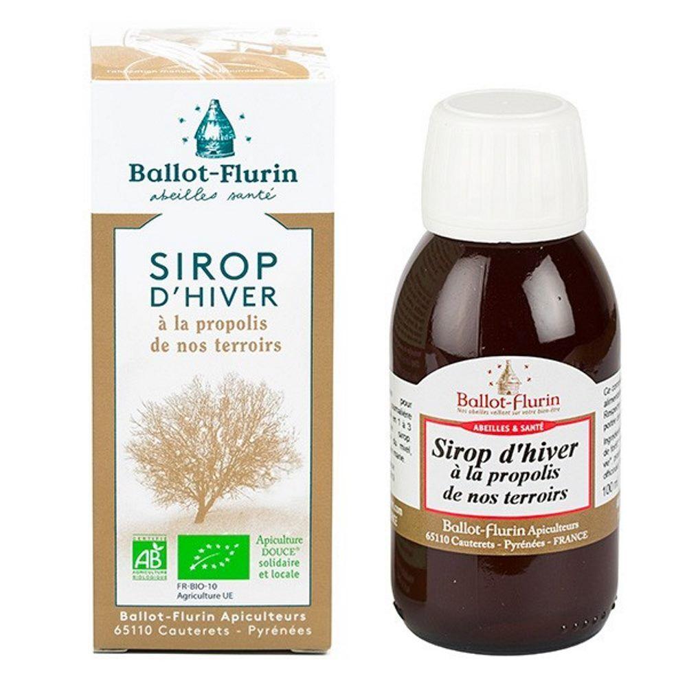Ballot-Flurin Sirop d'Hiver apaisant Bio 100 ml - Propolis Noire et Miel - Ballot-Flurin